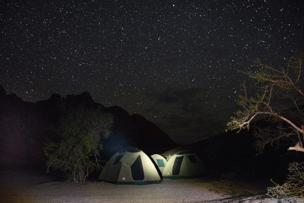 Spitzkoppe Camping Namibia