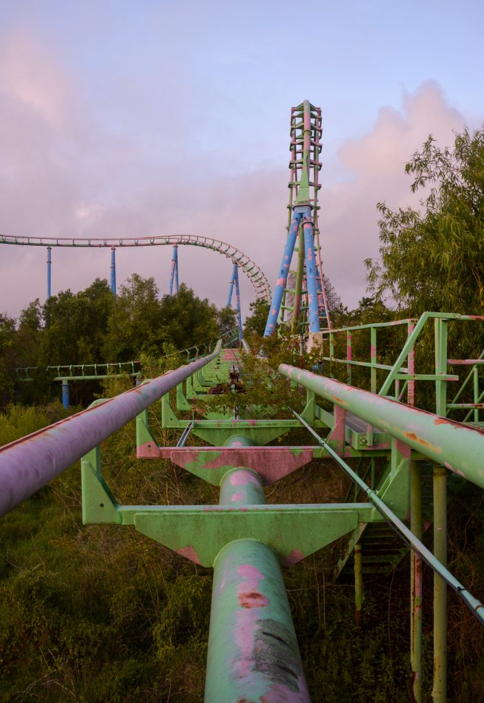 roller coaster abandoned six flags New Orleans