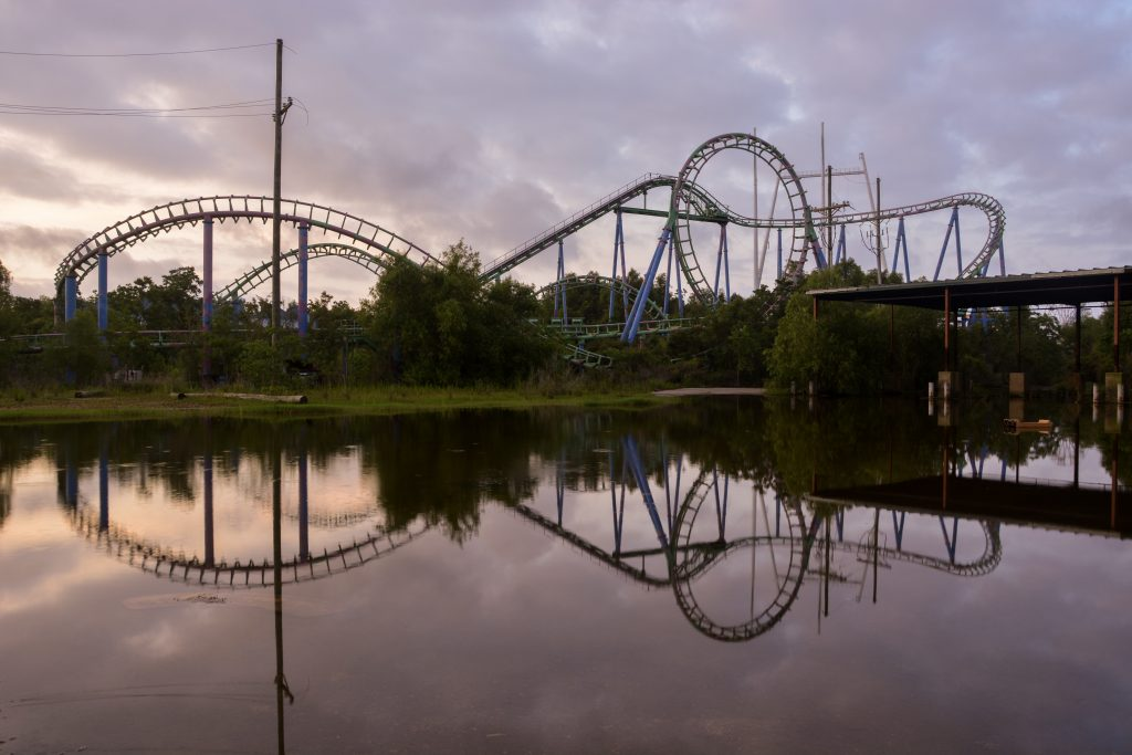 roller coaster abandoned six flags New Orleans underwater