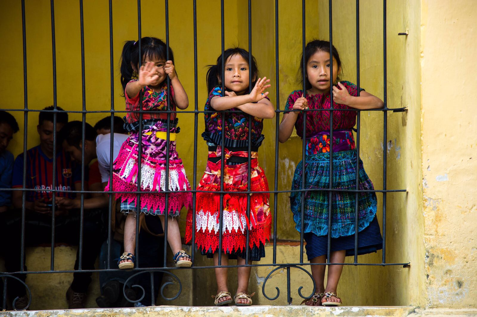girls traditional clothing Antigua Guatemala