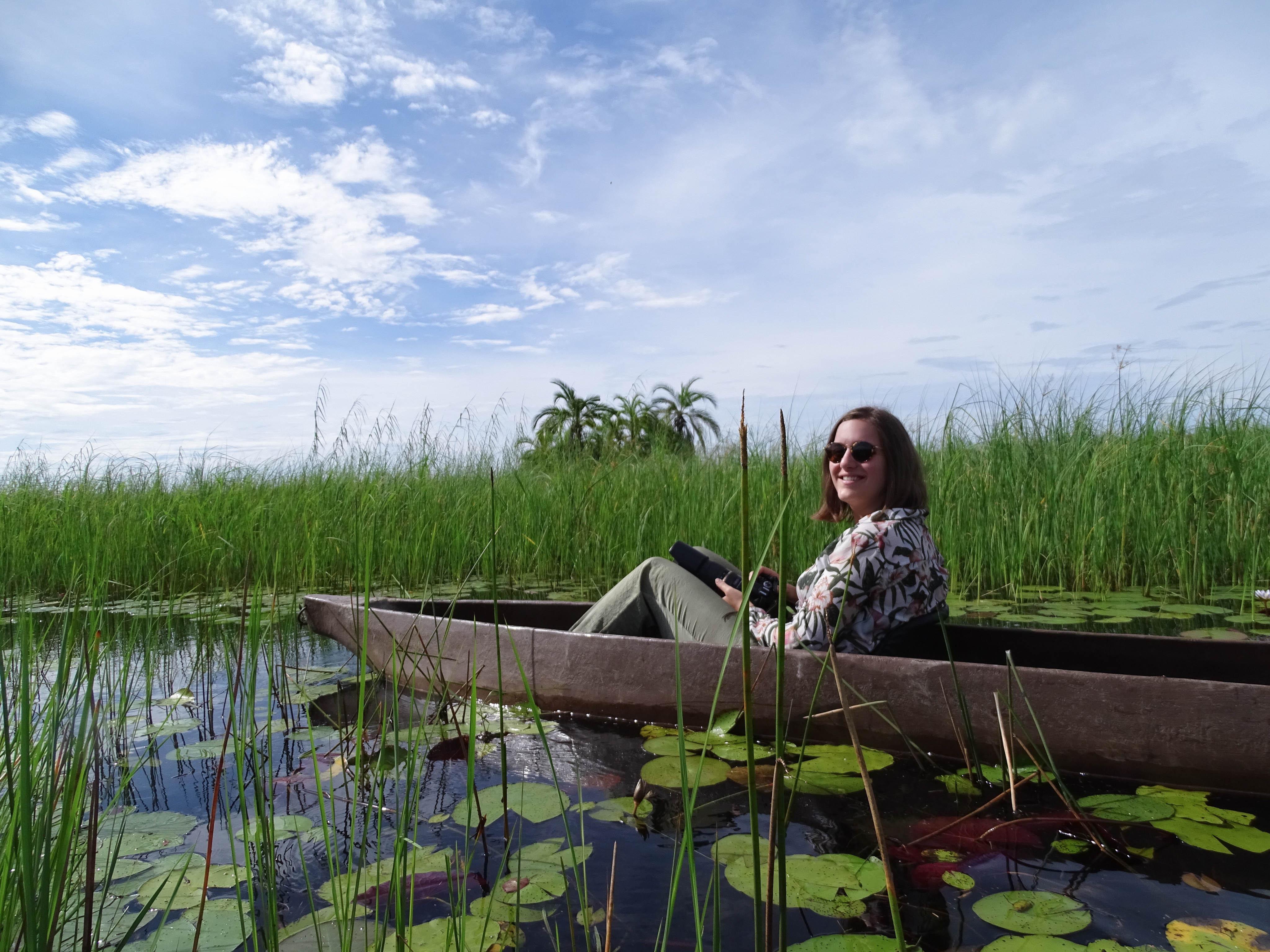Okavango delta Botswana mokoro