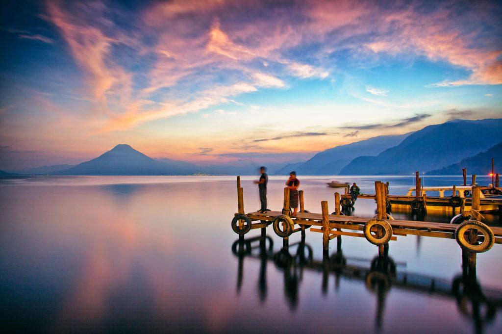 sunset panajachel lake atitlan Guatemala