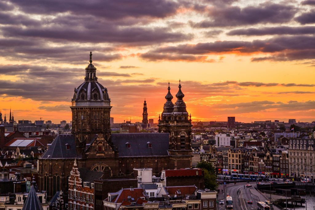 view Hilton sky lounge amsterdam