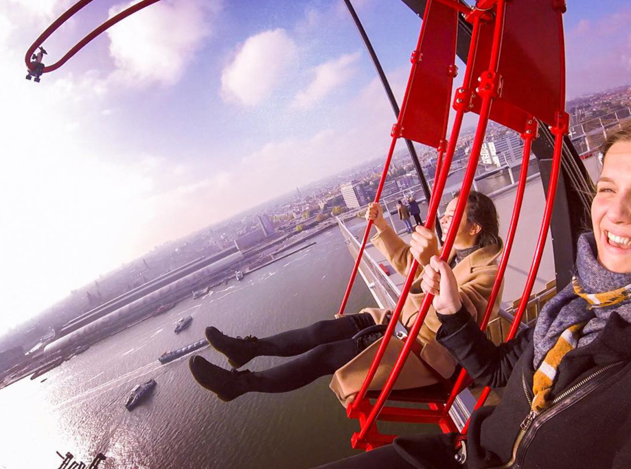 A'dam lookout tower over the edge swing